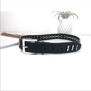 Calvin Klein black leather belt